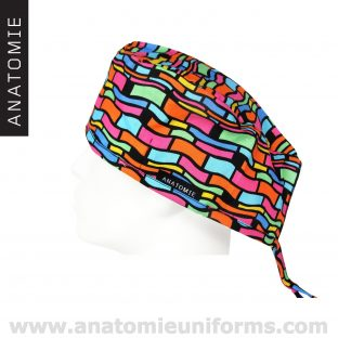 Gorros Quirofano abstractos divertidos coloridos ANA062