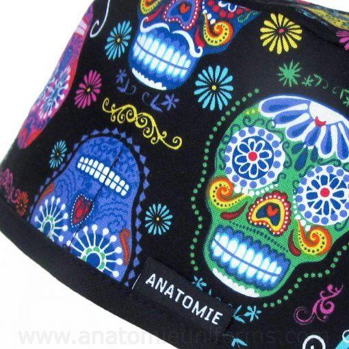Gorros Quirofano Calaveras Mexicanas - 0121b