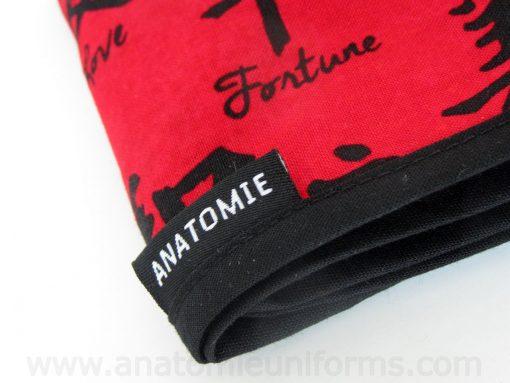 Gorros Quirofano Rojo Letras Chinas - 0108a