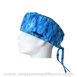 Surgical Caps Blue Waves Ocean ANA020