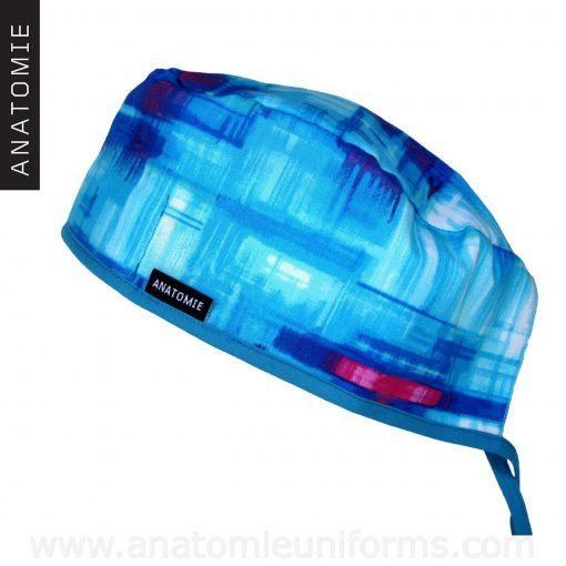 Gorros Quirofano Abstractos Azules - 0119