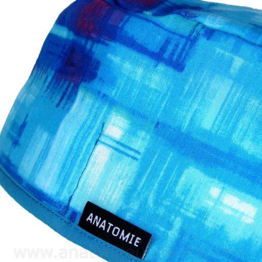 Gorros Quirofano Abstractos Azules - 0119b